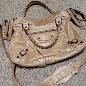 Authentic tan Balenciaga crossbody bag